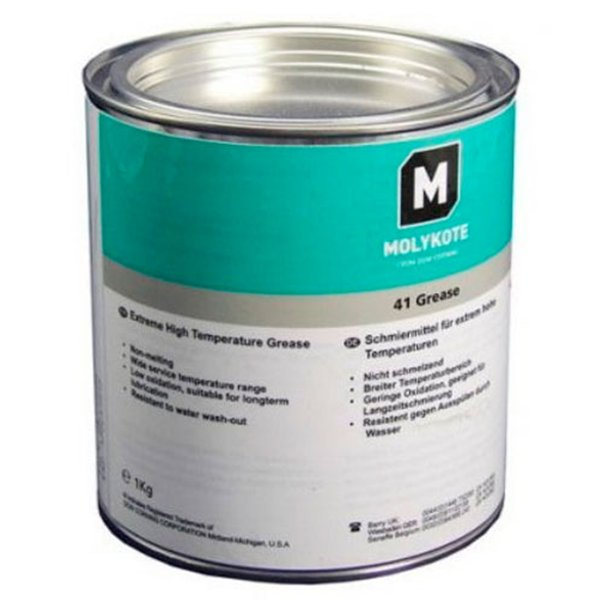 MOLYKOTE 41 EXTREME HIGH TEMPERATURE BLACK BEARING GREASE (8 LB) 3.6 KG