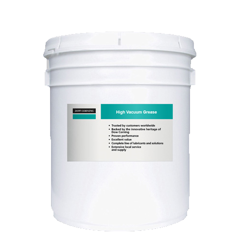 MOLYKOTE HI-VAC SILICONE BASED HIGH VACUUM CLEAR 40 LB (18 KG) GREASE PAIL
