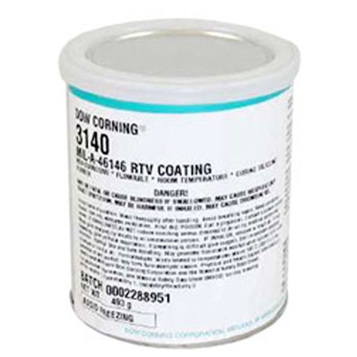 DOWSIL 3140 RTV Clear Silicone Coating MIL-A-46146 (493 G) PINT CAN