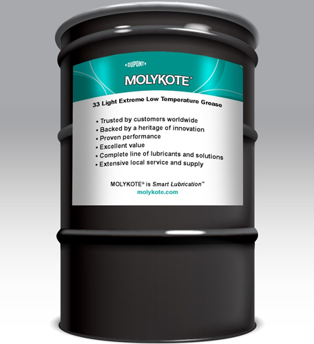 MOLYKOTE EXTREME LOW TEMPERATURE 33 GREASE LITE 180 KG DRUM