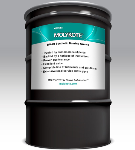 MOLYKOTE BG 20 BEIGE HIGH PERFORMANCE SYNTHETIC GREASE 180 KG DRUM