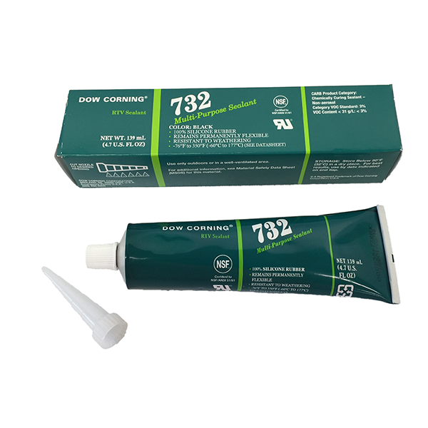 DOWSIL 732 BLACK TUBE SEALANT 4 7 OZ MULTI-PURPOSE MIL-A-46106