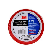 3M Vinyl Tape 471 Red 1IN X 36YD 3M70002409053