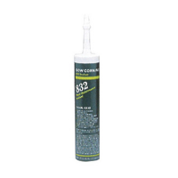 DOWSIL 832 MULTI-SURFACE RTV SILICONE ADHESIVE SEALANT BLACK 300ML (10.1 OZ) CARTRIDGE