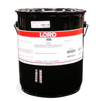 LORD 406 ACRYLIC ADHESIVE RESIN OFF-WHITE 40LB STEEL PAIL