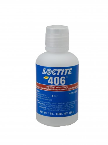 LOCTITE 406 INSTANT ADHESIVE PRISM SURFACE INSENSITIVE CLEAR 1LB BOTTLE