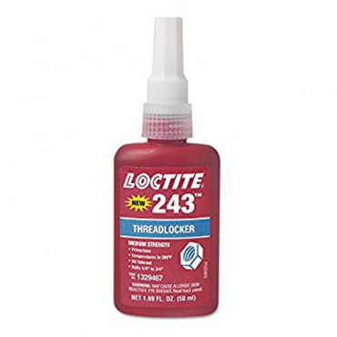 LOCTITE 243 THREADLOCKER BLUE MEDIUM STRENGTH 50ML BOTTLE