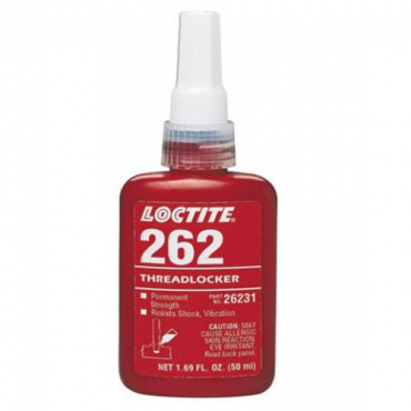 LOCTITE 262 HIGH STRENGTH THREADLOCKER ACRYLIC RED 50 ML BOTTLE