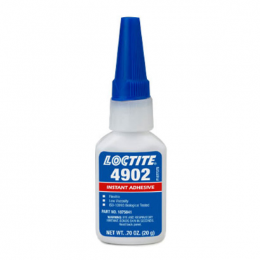 LOCTITE 4902 FLEXIBLE CYANOACRYLATE ADHESIVE CLEAR 20 GRAM BOTTLE