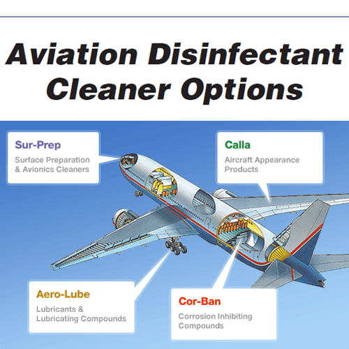 Zip-Chem Aviation Disinfectant Cleaner Options