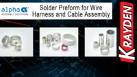 Alpha Preform for Wire Harness and Cable Assembly