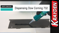 Dow Corning 732 Black Silicone Sealant Manually Dispensed