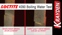 Loctite 4090 Hybrid Adhesive: Boiling Water Test