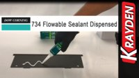 Dow Corning 734 Flowable Silicone Sealant Dispensed